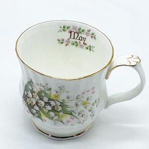 Vintage Enesco Monthly Flower May Coffee Tea Cup